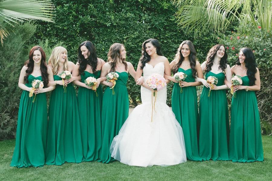 zielone sukienki dla druhen