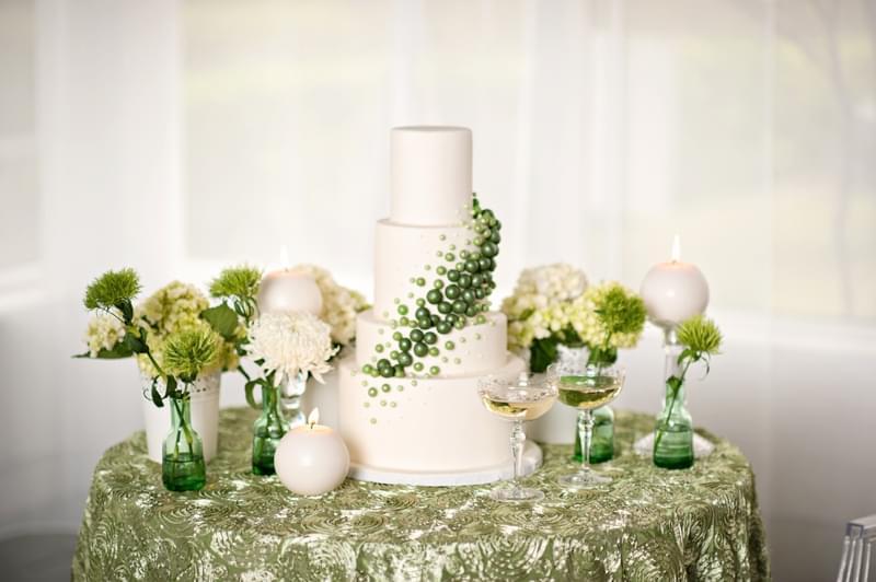 zielony kolor przewodni wesela