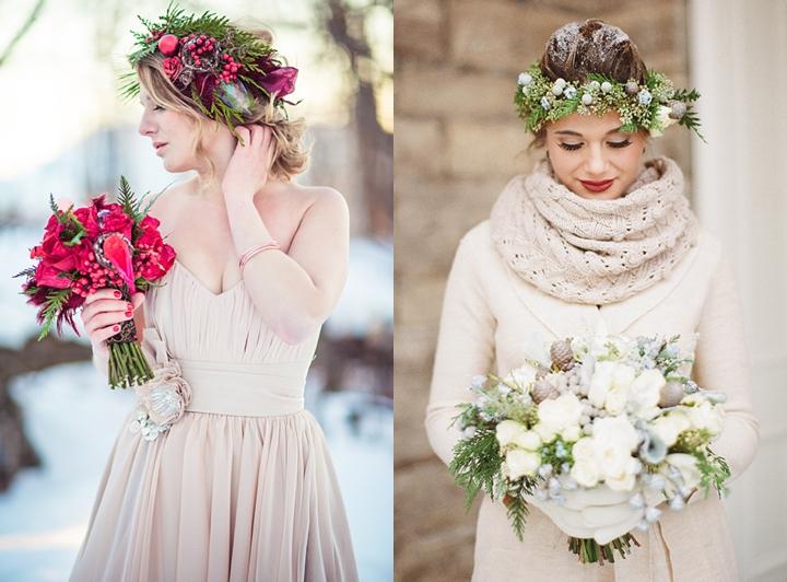 zimowy wianek ślubny zdjęcie