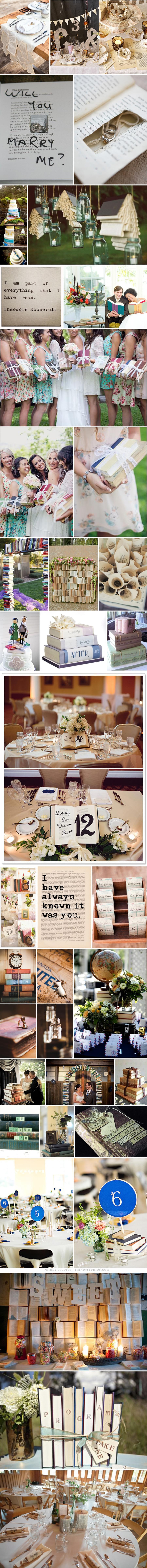 2 dekoracje wesele ślub nietypowe oryginalne książki