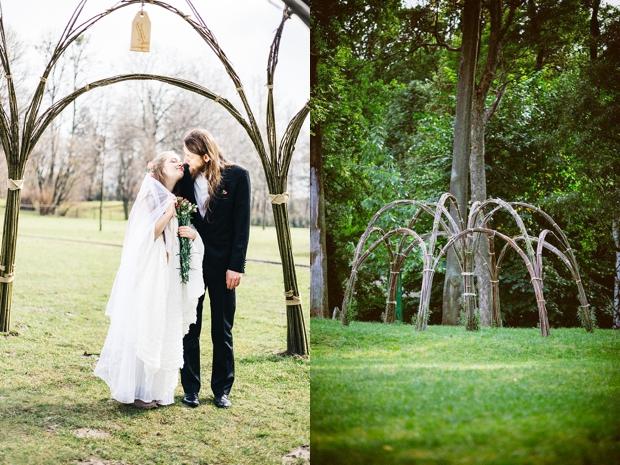 sesja ślubna żywa architektura