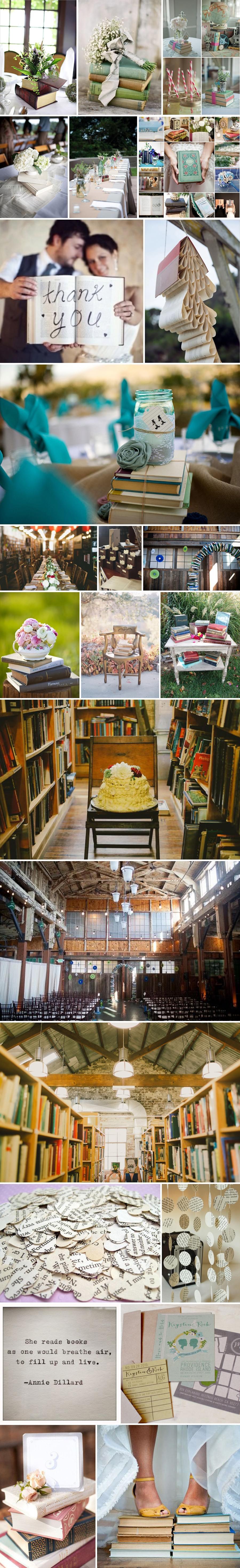 3 inne nietypowe unikatowe dekoracje książkowe wesele ślub stylowe rustykalne vintage styl