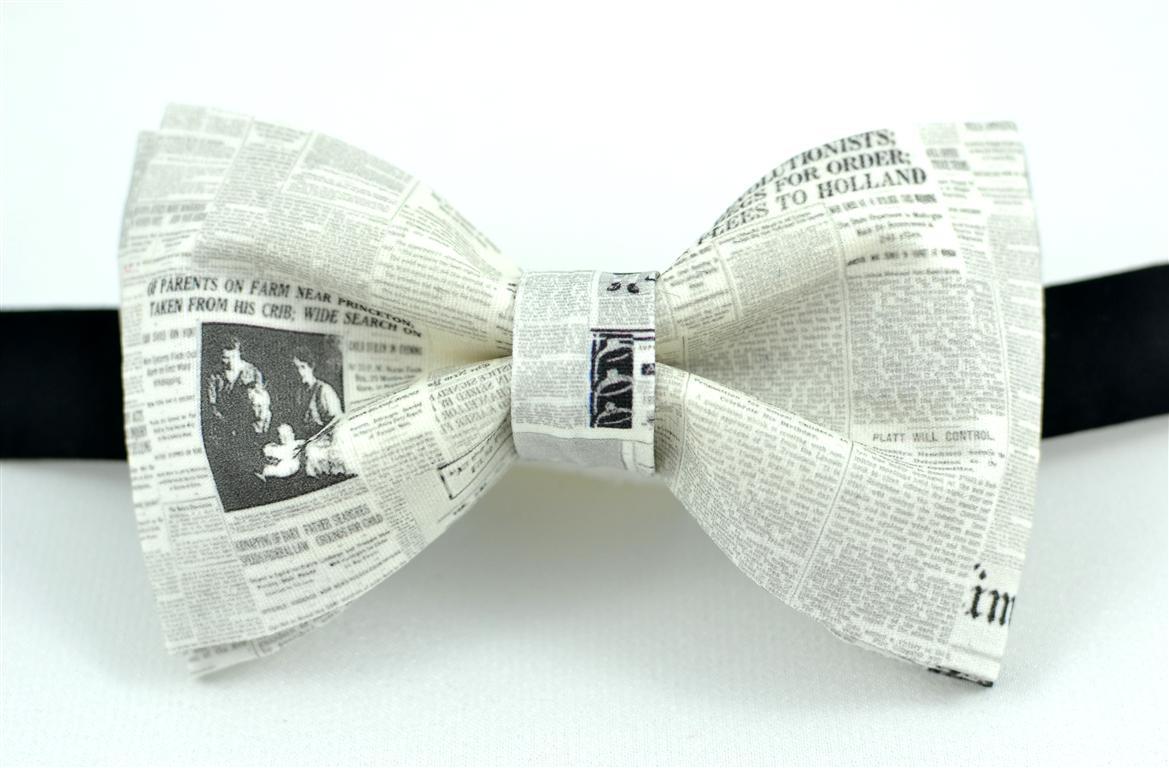 mucha muszka ślub do ślubu motyw gazety
