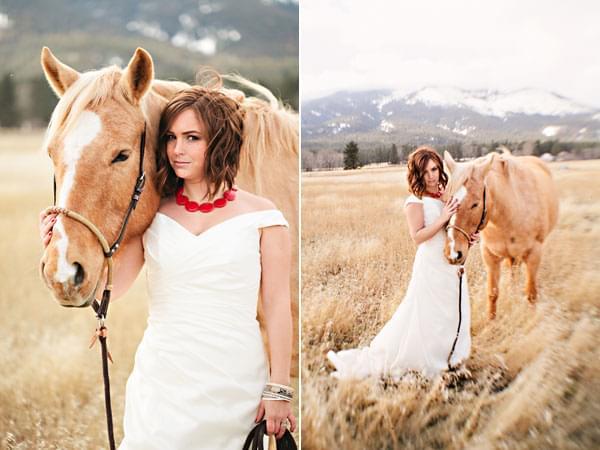 sesja ślubna z koniem