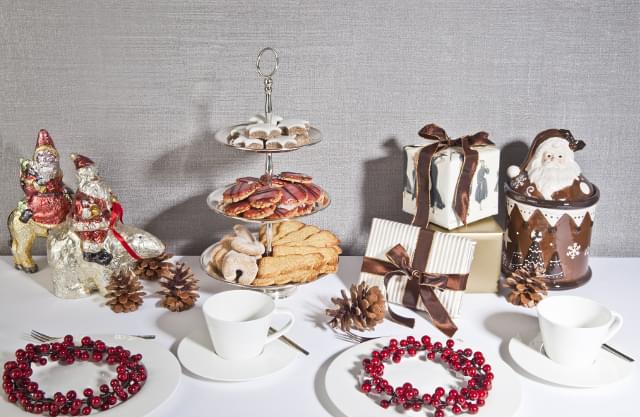 słodki stół zimowe wesele