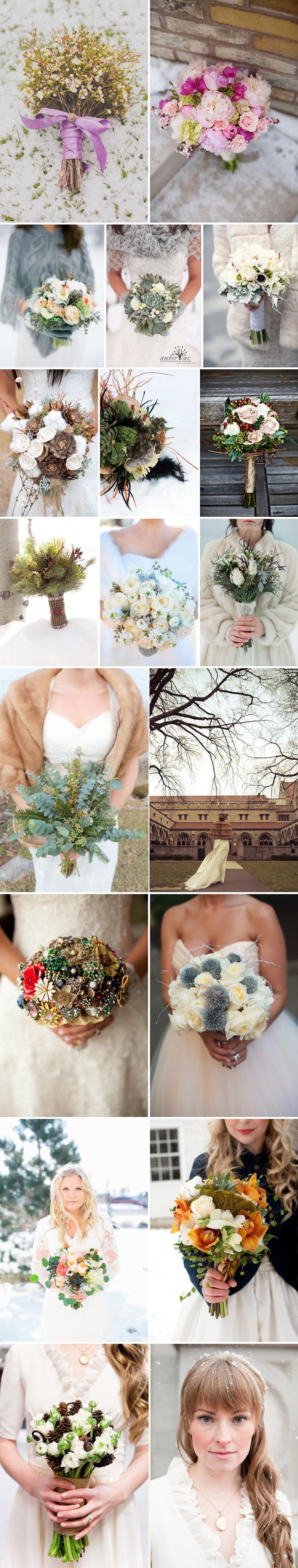 bukiet ślubny zimą zimowe kwiaty do ślubu