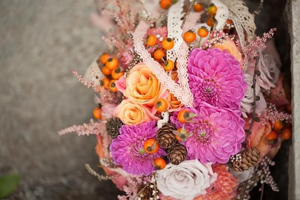 bukiet jesień ślub