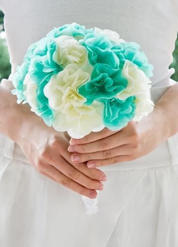 bukiet pistacjowy bukiet z bibuły z papieru ślub