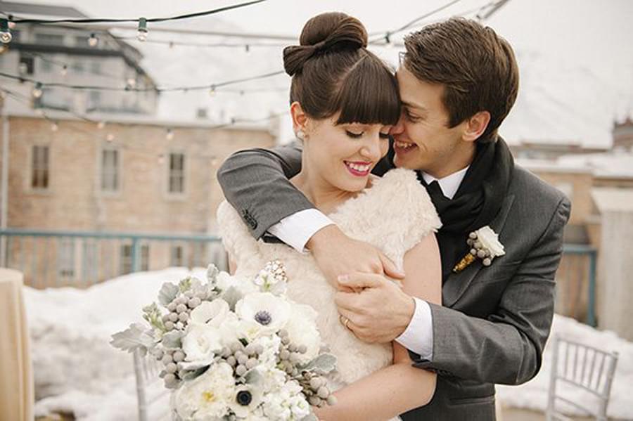 bukiet zimowy ślub