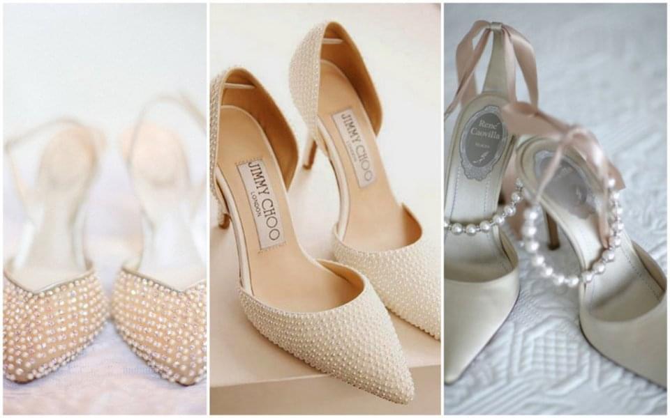 buty ślubne z perłami zdjęcie