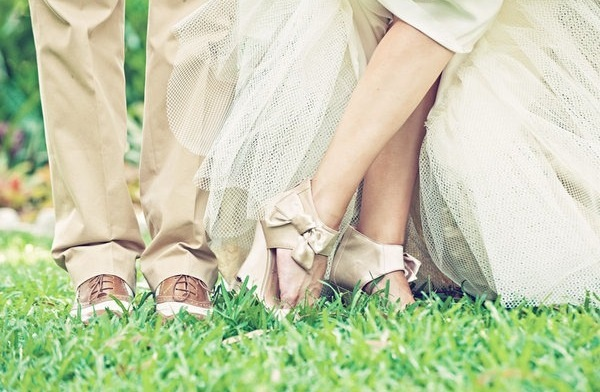buty ślubne na koturnie zdjęcie