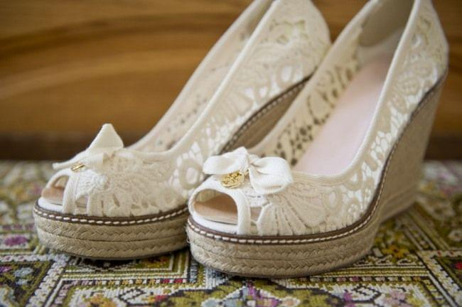 buty na platformie ślubne zdjęcie