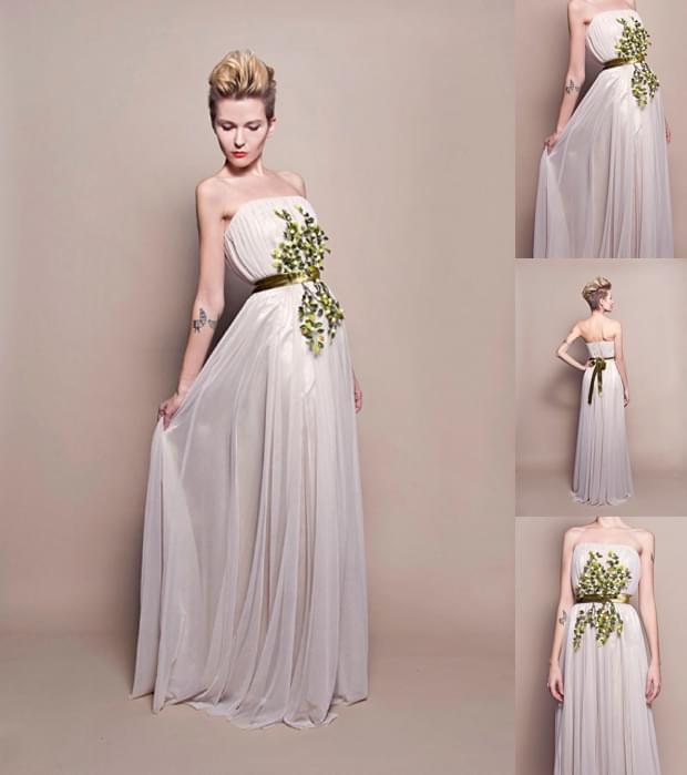 ślubna suknia z tiulu zdjęcie