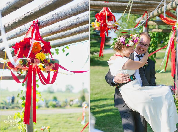 wesele dekoracje folk zdjęcie