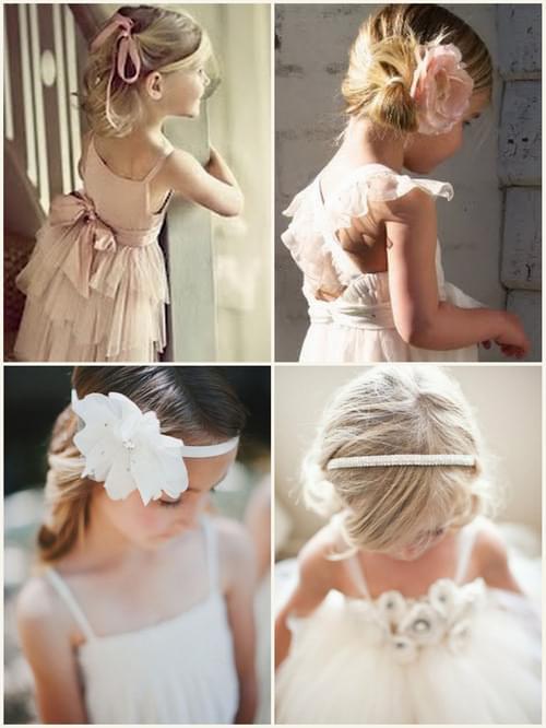fryzury i sukienki dla druhenek sypanie kwiatków