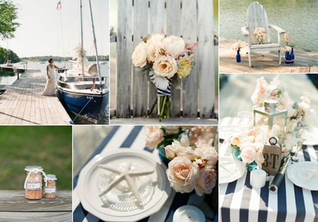 inspiracje ślub wesele nad jeziorem żeglarski ślub motyw przewodni