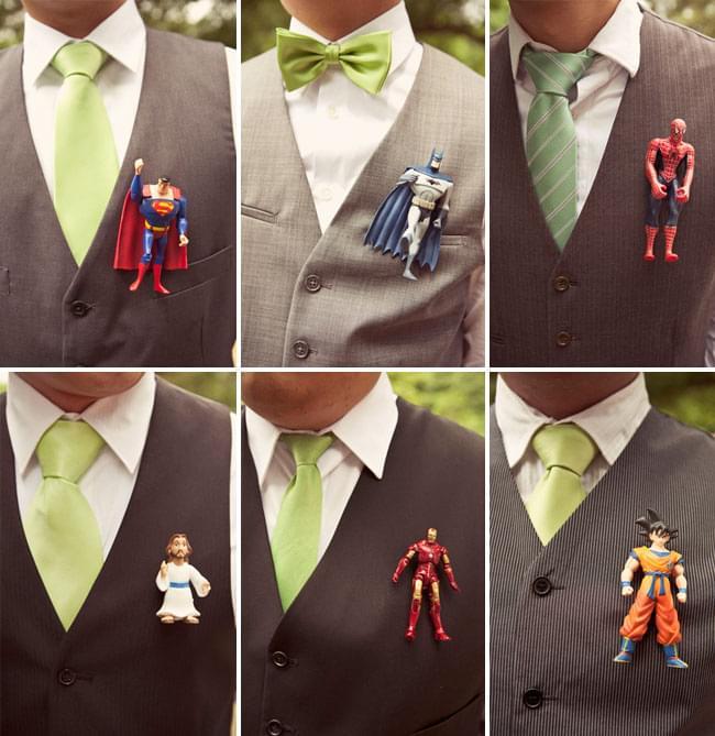 butonierka figurki action figures superbohaterowie unikatowy oryginalny pomysł
