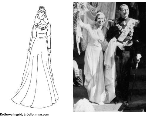 królowa ingrid suknia slubna