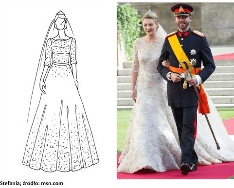 księżniczka stefania suknia slubna