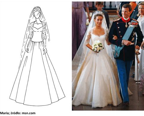 maria księżniczka suknia ślubna
