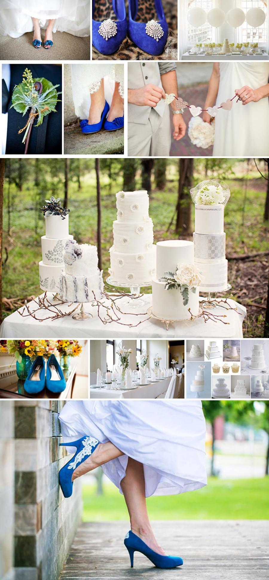 niebieskie buty do slubu, kolory ślubu niebieski i biały , motyw przewodni wesela
