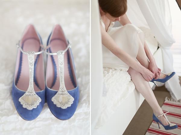 niebieskie buty ślub