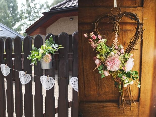 ozdobione podwórko wesele