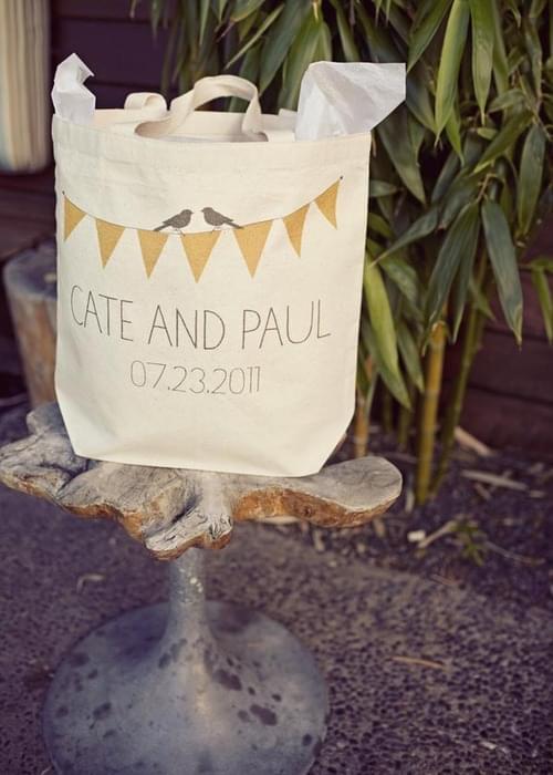 płócienna torba przyjęcie weselne