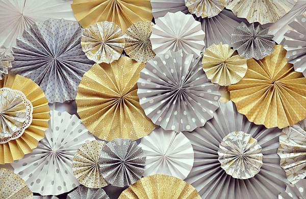 papierowe rozety