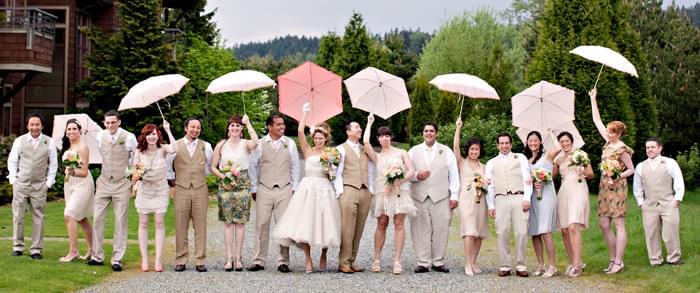 druhny z parasolkami zdjęcie