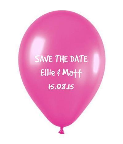balon zaproszenia ślubne save the date