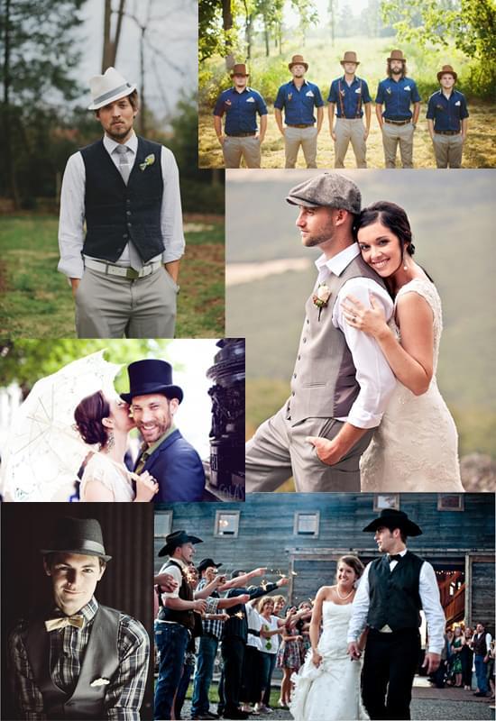 kapelusze dla pana ślub wesele