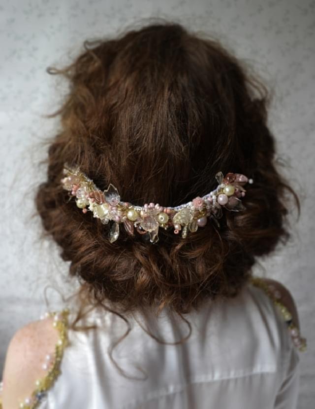 romantyczna ozdoba do włosów ślubna