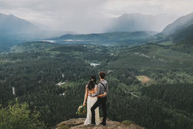 sesja zdjęciowa w górach w lesie