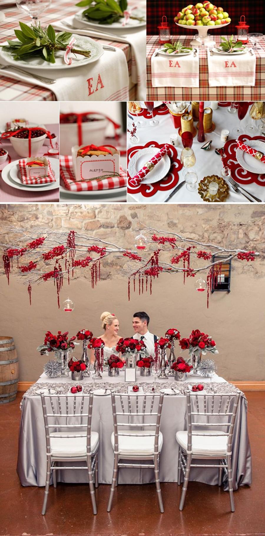 slub w grudniu wesele dekoracje