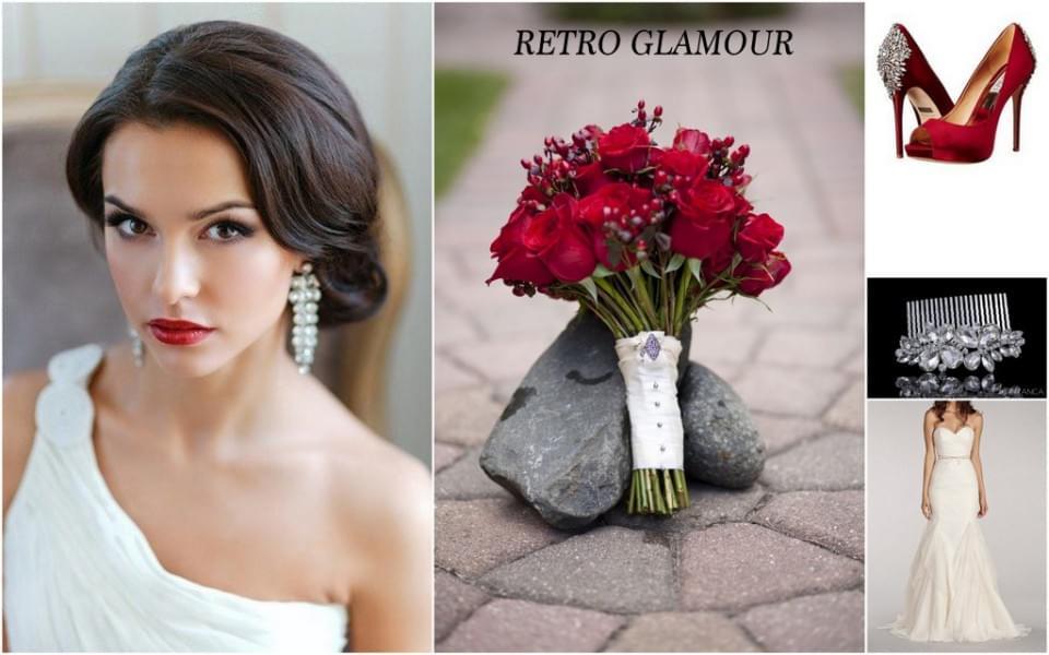 styl retro glamour ślub