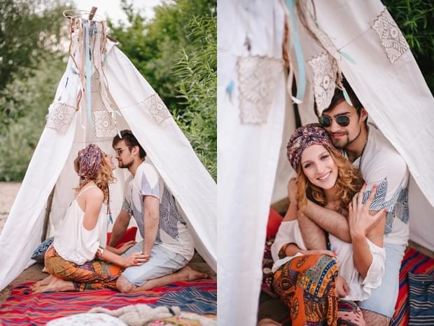 stylizowana sesja narzeczeńska hippie zdjęcie (1)