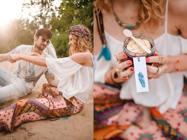 stylizowana sesja narzeczeńska hippie zdjęcie (18)