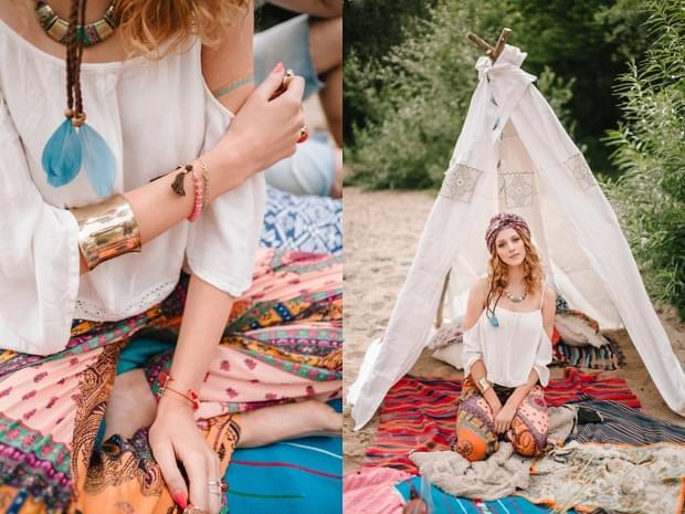 stylizowana sesja narzeczeńska hippie zdjęcie (22)
