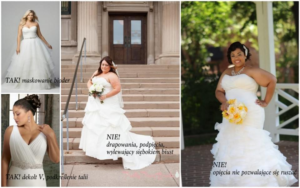 suknia ślubna dla puszytych