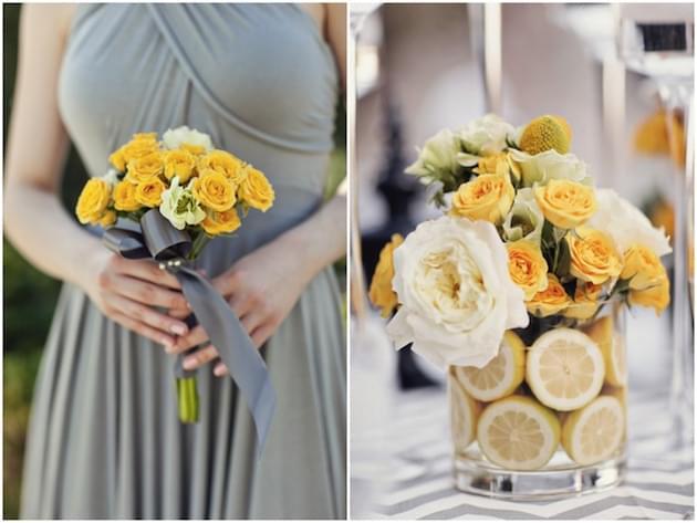 szara sukienkana wesele zdjęcie