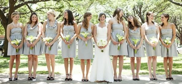 szare sukienki druhny świadkowa