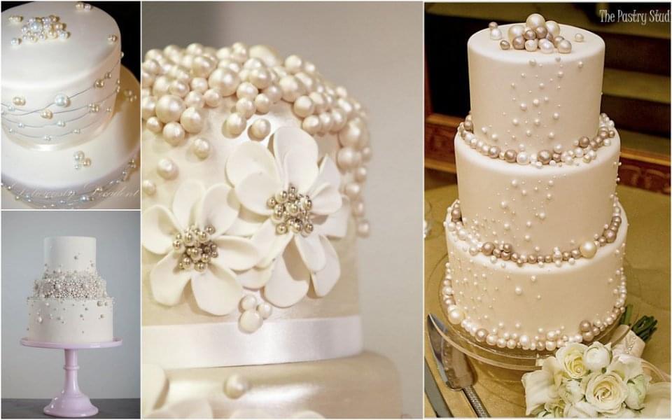 tort z perłami wesele zdjęcie