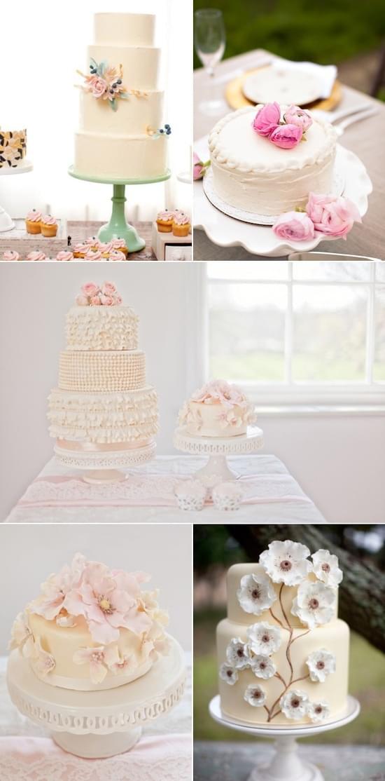 torty wesele ślubne białe kremowe torty