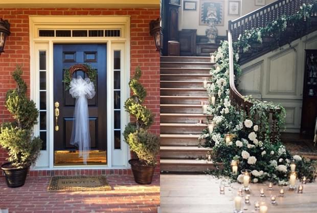 weselne ozdoby na podwórzu