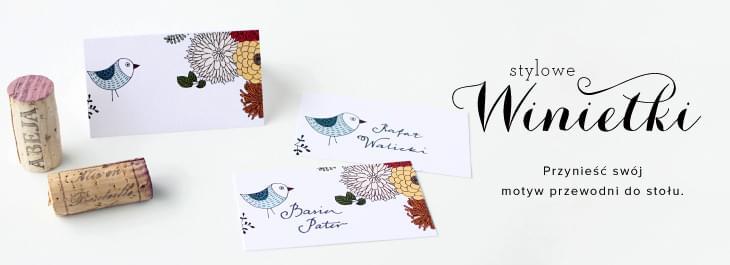 winietki-na-stoly motyw ptaki ptaszki pepeteria zaproszenia