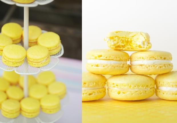 żółte makaroniki
