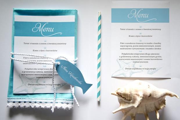 menu i zaproszenia marynistyczne zdjęcie