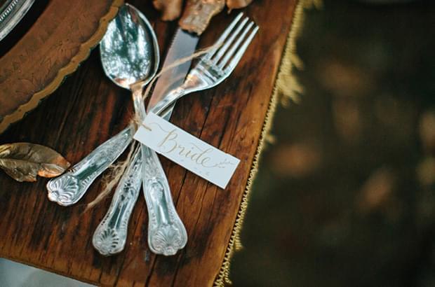 zastawa rustykalna do stołu ślub wesele