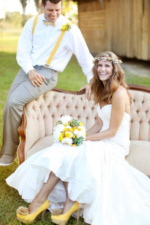 zolty kolor slub wesele